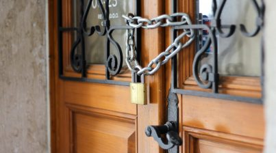 image of locked door for how do you stop a commercial eviction